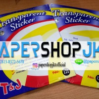 Label Undangan Transparan 103 Tom & Jerry / T&J Transparant Sticker