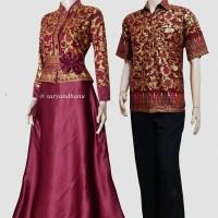 Jual Couple batik sarimbit gamis pesta baju pasangan seragam SRG 555 Murah