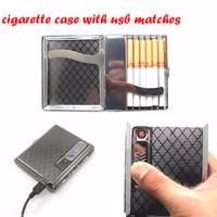 Jual Kotak Rokok + Pemantik / Korek Api (Cigarette Case Box + USB Lighter) Murah