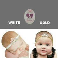 Bandana Bayi Anak Tiara Mahkota Crown Bando | Baby Headband