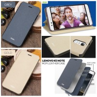 Lenovo K5 Note - Mofi Leather Case Flip Cover Sarung Hp Casing Keren