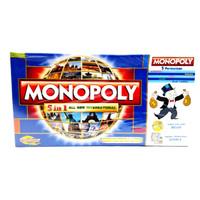 Jual Monopoly 5 in 1 ( Monopoli, Halma, Catur, Ular tangga, Ludo ) Murah