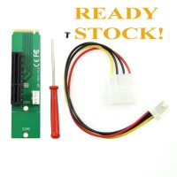 PCI-E 4X Female to NGFF M.2 M Key Male Adapter Converter Card PCIE M2