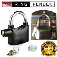 Jual Gembok Alarm Lock Anti Maling Motor Ring PENDEK \ Gembok Multi Fungsi Murah