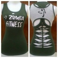 baju senam aerobic zumba edisi hijau