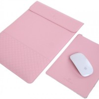 Pink 13.3 Inch Envelope Waterproof PU Leather Laptop Case Cover