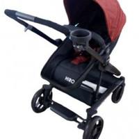 Stroller Coco Latte Geoby Hiro 4 in 1 (tanpa kardus)