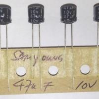 capacitor Elco 47uF 10V Original samyoung