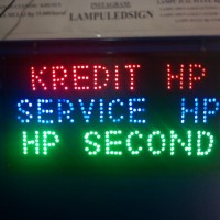 Tulisan Lampu Led Sign KREDIT SERVICE HP - LIKE RUNNING TEXT