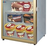 LSD-55 Premium Up Right Glass Door Freezer Atau Showcase Ice Cream
