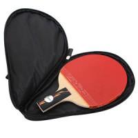 Table Tennis Racket Case Waterproof Ping Pong Paddle Bat Ball Zipper B
