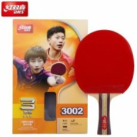 DHS 3-Star Table Tennis Racket with Rubber (PF4) Ping Pong Bat