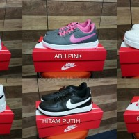 Sepatu Nike Air Force One 1 Women Wanita Putih Pink Tosca Biru