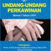 UU PERKAWINAN NO.1 TAHUN 1974 + CD