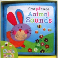 First Steps Animal Sounds Cloth Book