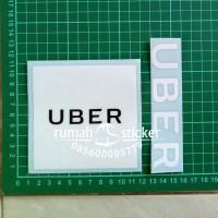Jual Sticker / Stiker Helm Ojek Online UBER Motor Set Murah