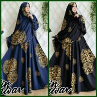 Hijab Modern Satin Mawar Syari 2in1 ( Gamis Dress + Jilbab Bergo )