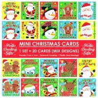 Jual Kartu Natal Kecil untuk Kado atau Parcel. Christmas Card. Isi 20 pcs. Murah