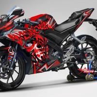 Decal stiker Yamaha R15 V3 Black Venom RED (FULLBODY)