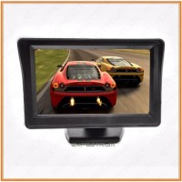 Car Monitor 4.3' inch TFT LCD Color Rearview Monitor for DVD, GPS, Cam