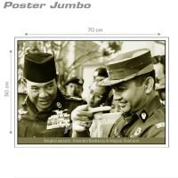 Poster PRESIDEN SOEKARNO & SOEHARTO: BINGKAI SEJARAH - Jumbo 50x70cm