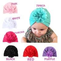 Jual topi turban bayi dan anak bunga besar Murah