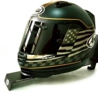 Gantungan Helm Stand Helmet Wall Mount with Jacket Holder AGV ARAI KYT