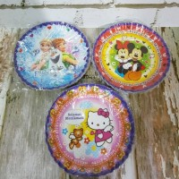 Piring Kue Frozen, Mickey Minnie, Hello Kitty/Paper Plate/ Tempat Kue