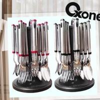 Jual Sendok set garpu oxone GRATIS rak hanger peniris bahan berkualitas Murah