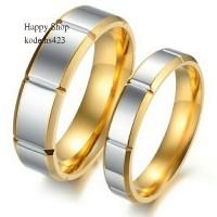 cincin couple nikah gold silver bahan titanium /,free ukir nama