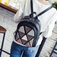 tas ransel hitam backpack glamour elegan metropolitan rivet wanita bag