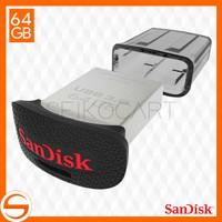 Jual SanDisk Ultra Fit USB3.0 64GB Flashdisk - ORIGINAL 100% GARANSI Murah