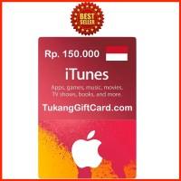 Jual [BEST SELLER] iTunes Gift Card Indonesia 150ribu IGC Murah