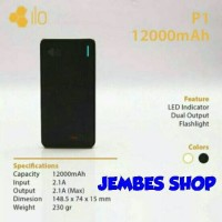 Jual Hippo Powerbank ILO P1 12.000mAh Polymer Real Capacity 100% ORIGINAL Murah