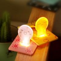 Jual Lampu Tidur Portable / Portable Lamp Bentuk Kartu Murah