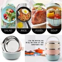 harga Rantang Susun 3 Tahan Panas / Stainless Steel Lunch Box Hl Rn-04 Tokopedia.com