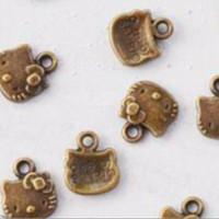 Jual Charm Hello Kitty Kuning Bakar lebar 1cm (Per Butir) Murah