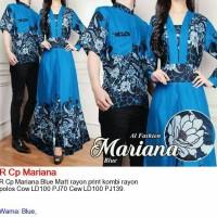 baju gamis wanita blue batik couple renata