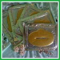 Jual Masker Bibir Lip Mask Crystal Gold Collagen Murah