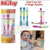 Nuby Oral Care Set 4 Stage System - Pink
