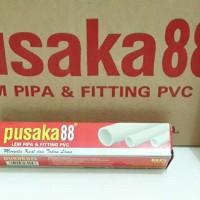 Lem Pipa dan Fitting PVC Super Kuat - Pusaka 88 Kemasan Tube Box 25 Gr