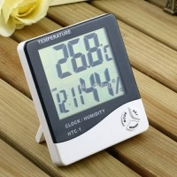 Digital HTC-1 Hygrometer/Termometer/pengatur suhu ruangan