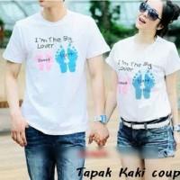 Supplier Couple Murah - Baju Couple Online - Kaos Tapak kaki putih