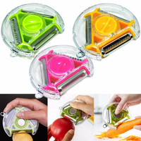 [ PENG CHANG BLADED ] Rotary Peeler Slicer Chopper 3 in 1 unik