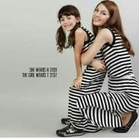 Harga couple midi maura dress salur ibu dan anak | WIKIPRICE INDONESIA
