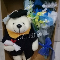 Jual Bouquet  kecil Parcel bunga dan boneka  teddy bear wisuda Murah