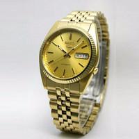 Seiko 5 Snxj94k1 Automatic Gold Plated Bracelet | Jam Pria Snxj94