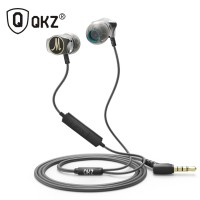 Headset Earphone IEM Basshead Vshape With Microphone QKZ-DM7