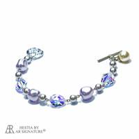 Perhiasan Gelang Swarovski - Vivena Lavender Bracelet by AR Hestia