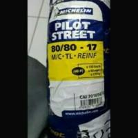 Jual BAN IMPOR !!! 80/80-17 MICHELIN PILOT STREET TUBLES Murah